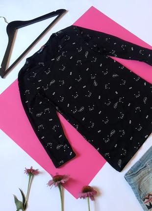 Чёрный джемпер свитшот с котиками чёрный. р. s