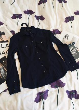 Оригинальная рубашка синего цвета