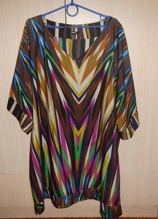 Блуза свободного кроя  h&m p.xxl