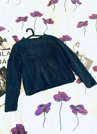 Бархатный свитер свободный крой