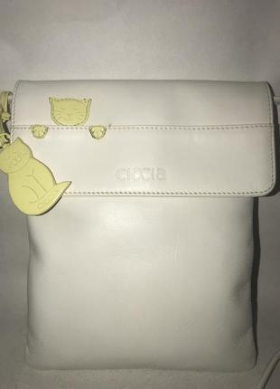 Англия! кожаная компактная сумочка через плечо ciccia( типа radley). стиль кросс боди