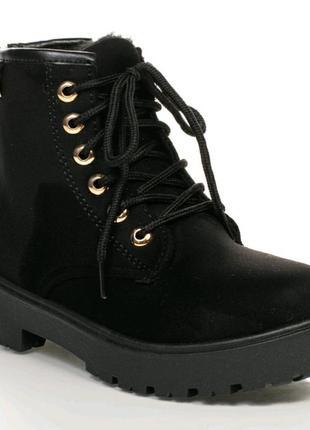 Ботинки замшевые черные,черевики,martens