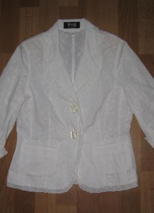 Ажурный летний пиджак