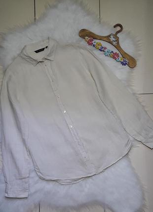 Фирменная льняная рубашка massimo dutti