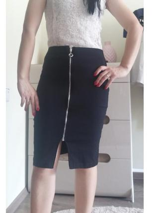 Классическая юбка карандаш с молнией спереди  atmosphere 36/s