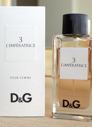 Dolce & gabbana 3 l'imperatrice_original_eau de toilette 15 мл затест_туал.вода