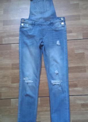 Крутой джинсовый комбинезон denim co на девочку 12-13 лет р 158