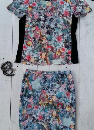 Костюм h&m юбка с кофточкой, размер 34-36.