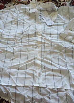 Рубашка в полоску! качество люкс!!!сзади удлиненная ! легкая,воздушная ! м,л