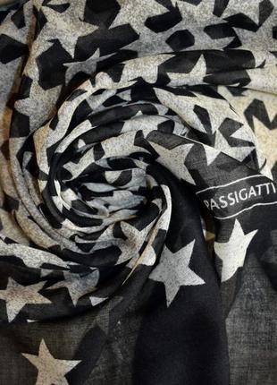 Красивый коттоновый палантин шарф passigatti италия – 100% вискоза –202х73 см