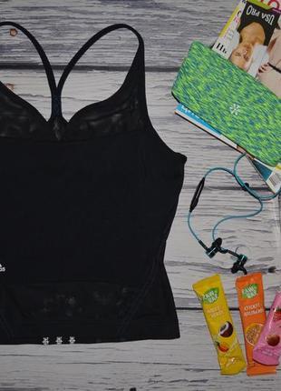 12/м женская фирменная спортивная майка топ с лифом топ adidas адидас оригинал