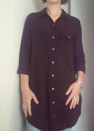Модная удлиненная рубашка