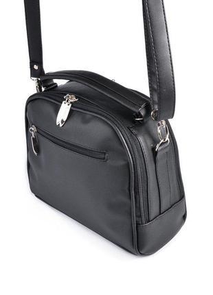 Маленькая сумка портфель с ручкой и ремешком через плечо кроссбоди2 фото