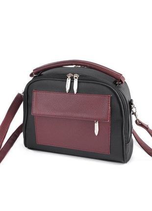 Маленькая сумка портфель с ручкой и ремешком через плечо кроссбоди10 фото