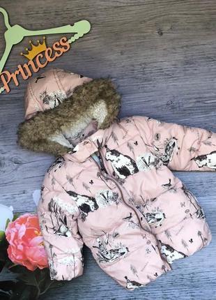Модная курточка на девочку next в кролика