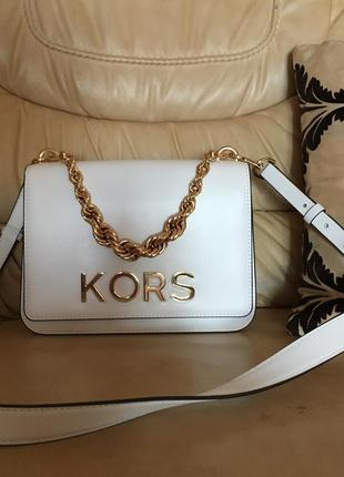 Сумка michael kors mott large embellished leather crossbody bag, оригинал