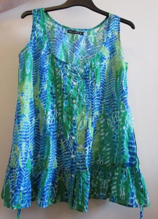 Акция 1+1=3 распродажа легкая невесомая блуза котон размер 8