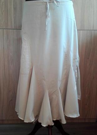 Натуральная юбка с асимметричным низом polo garage, 100% хлопок