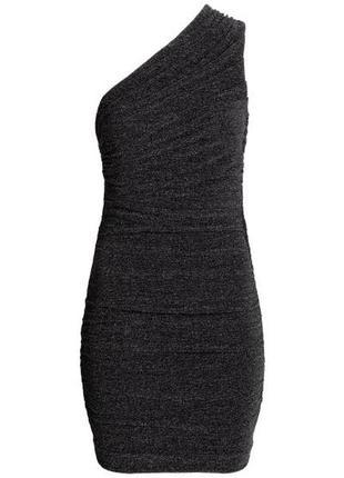 Драпированное платье на одно плечо h&m2 фото