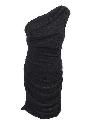 Драпированное платье на одно плечо h&m4 фото