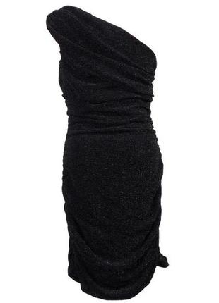 Драпированное платье на одно плечо h&m5 фото