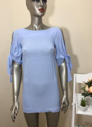 Повна ліквідація товару!!! голубе плаття по фігурі з рукавами завязки