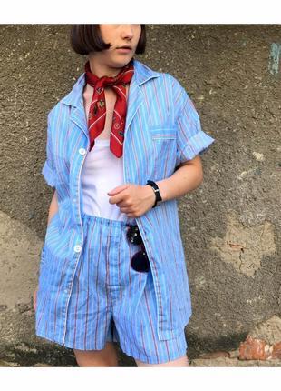 Хлопковый костюм в пижамном стиле
