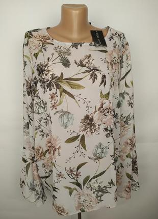 Блуза новая легкая шифоновая в цветочный принт большой размер  new look 18/46/xxl