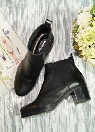 Manor. кожа. стильные ботинки, челси высокого качества