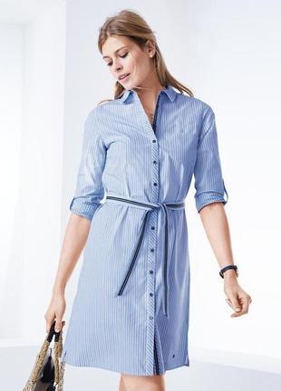 42-44р. платье-рубашка в полоску, органический хлопок тchibo
