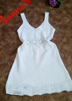 Платье  летнее 48 50 размер мини короткое asos вязанное