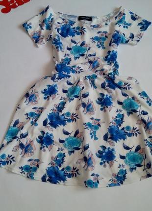 Платье 48 50 размер мини топ скидка sale цветочный принт короткое
