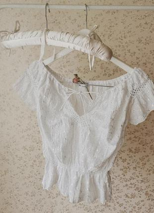 Винтажная ажурная блузка