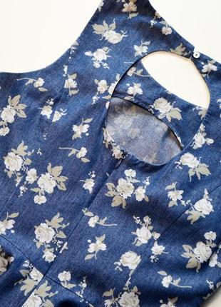 Легкое нежное котоновое платье в цветы4 фото