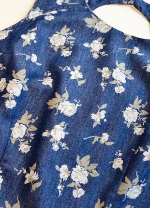 Легкое нежное котоновое платье в цветы2 фото
