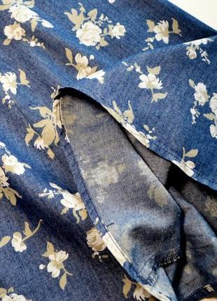 Легкое нежное котоновое платье в цветы6 фото
