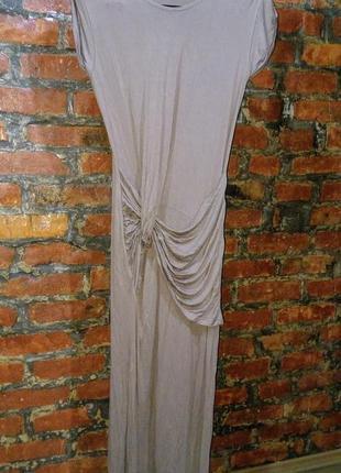 Длинное платье макси  с драпировкой на талии rise