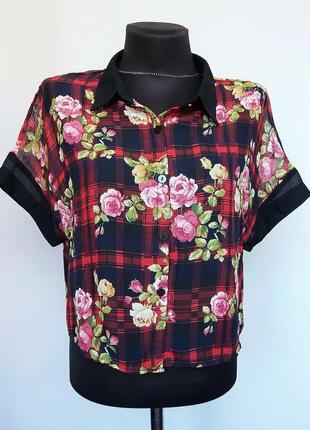 Суперцена. стильная рубашка блузка. шифон. новая, р. s m l