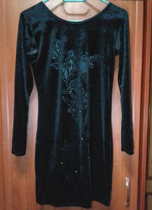 Платье велюровое loren bruk