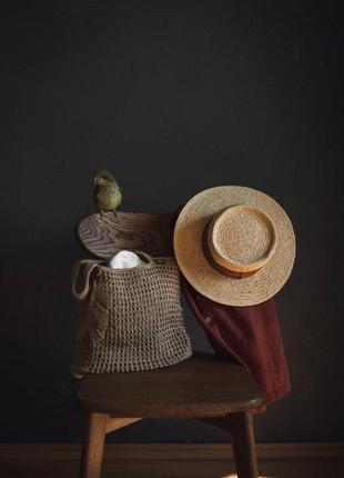 Сумка джутова шоппер еко плетена вязана