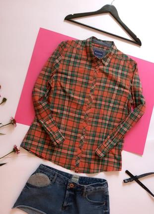 Распродажа! 🔥🔥🔥  клетчатая рубашка в клетку biaggini. р. 14/42/. нюанс