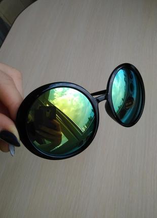 Распродажа! крутые круглые ретро зеркальные очки новые стильные