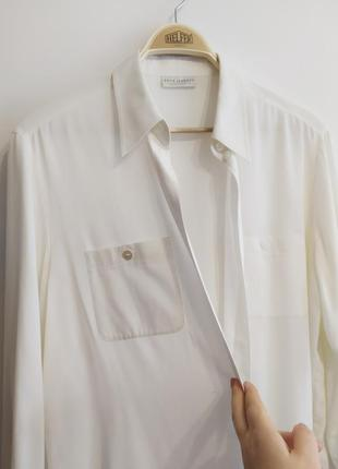 Белая классическая прямая рубашка с карманами, xl-xxl
