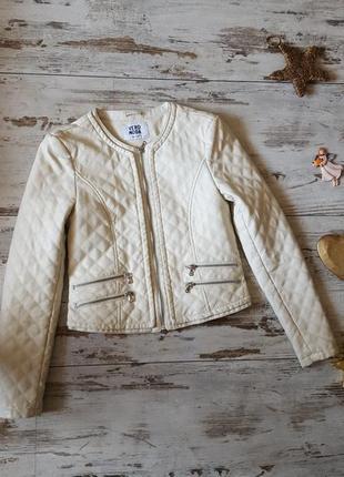 Деми куртка косуха зам. кожаная стеганная