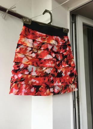 Нарядная юбка guess marciano оригинал xs на резинке