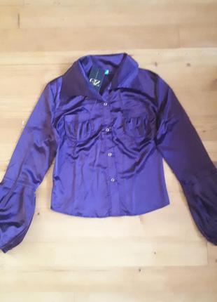 Блуза с атласной ткани