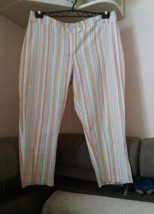 Яркие брюки   котон