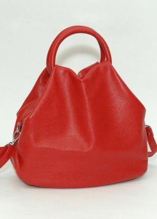 Кожаная красная женская сумка в разных цветах