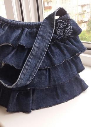 Красивая необычная джинсовая сумочка