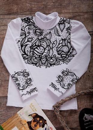Блузка для девочки узор